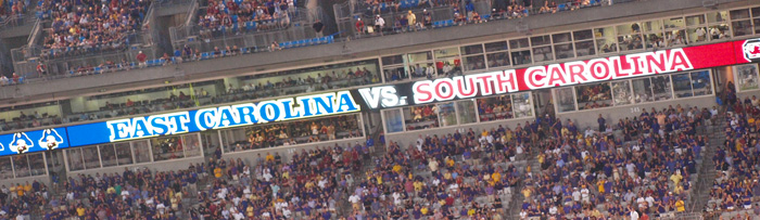 SC vs. ECU Video Banner