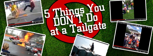 Video 5 Things You Don T Do At A Tailgate Party