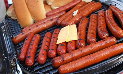 Grilling Hot Dogs at the Tailgate
