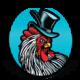 Chicken Cock Whiskey Logo