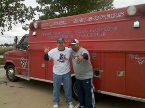 Texans Bullhorn Tailgaters Firetruck