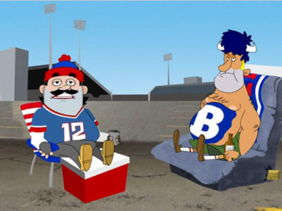 Bills Tailgaters Cartoon
