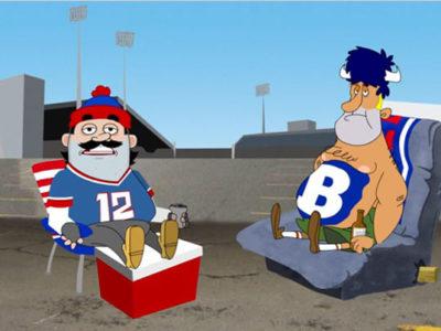 Bills Tailgaters Cartoon