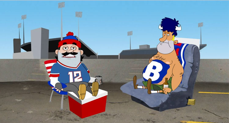 These Cartoon Bills Tailgaters are Just Like Real Life Bills Tailgaters