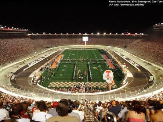Tennessee vs virginia tech at bristol motor speedway for Football game at bristol motor speedway