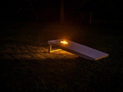 Nighttime Cornhole 2