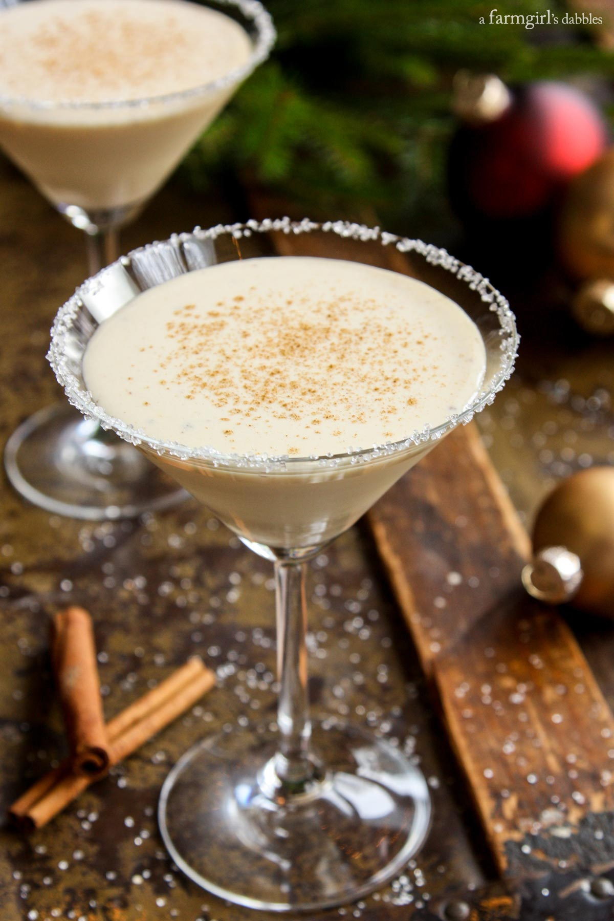Get in the holiday spirit with Angela's eggnog cocktail