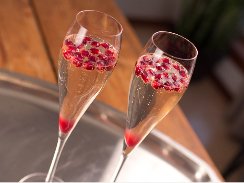 Ring in New Year with pomegranate champagne cocktail
