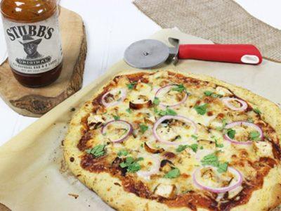 Stubb's Barbecue chicken pizza 1