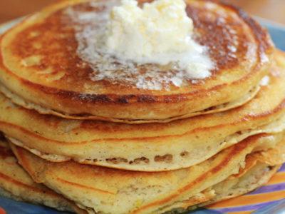 Fabulously Lazy Lemon & Vanilla Bean Pancakes
