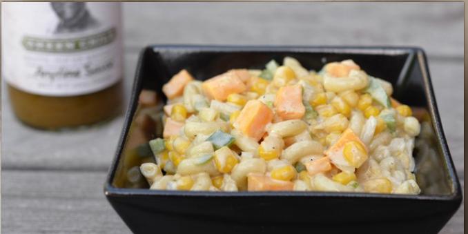 Stubb's Green Chile Sauce secret to tasty pasta salad