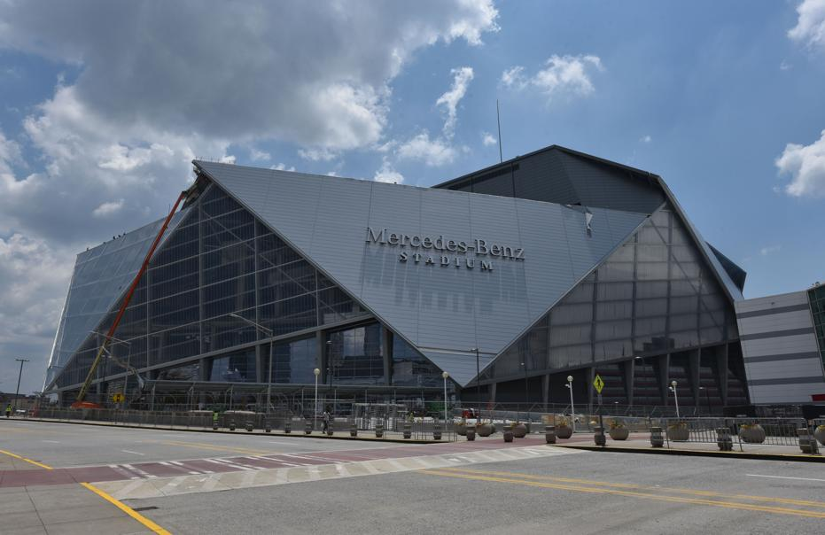 Atlanta 39 s new mercedes benz stadium to be tailgating for Atlanta ga mercedes benz stadium