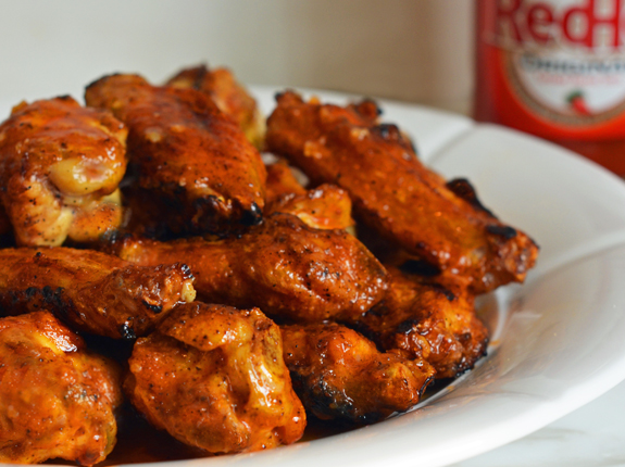 Bills-inspired grilled Buffalo wings