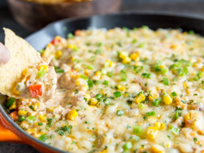Cheesy corn dip for your chip-dipping needs