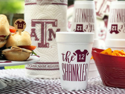 October giveaway! Personalized tailgating party supplies 1