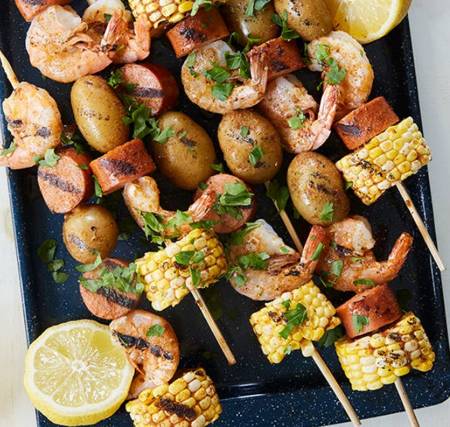 Frogmore Stew on a stick for 4th of July