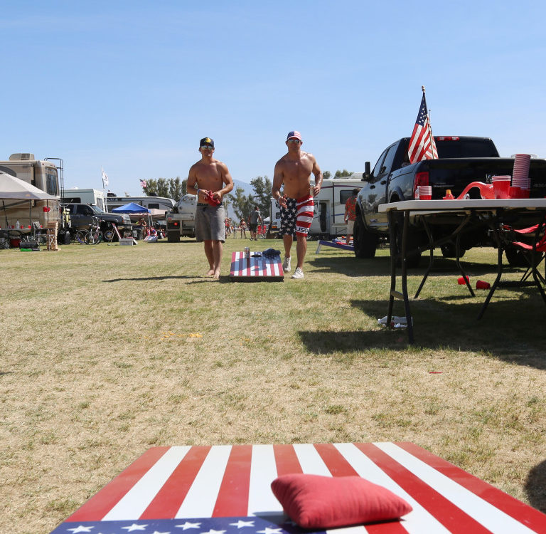 Cornhole voted best tailgate game