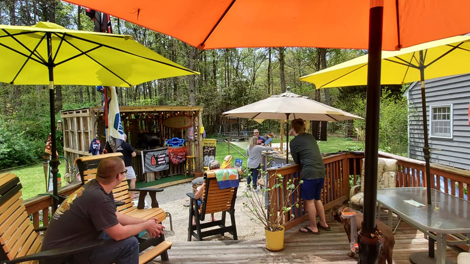 Homegating for a NASCAR race in the backyard