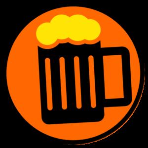 Foamy Beer Mug Round Icon
