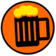 Foamy Beer Mug Round Icon