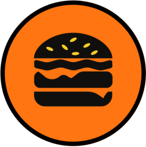 Burger Round Food Icon