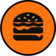 Burger Round Food Icon