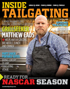 Cover of Inside Tailgating Magazine Spring 2020 with Matthew Eads