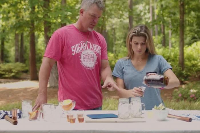 Baseball Hall of Famer Chipper Jones serving up Sweet Tea Moonshine