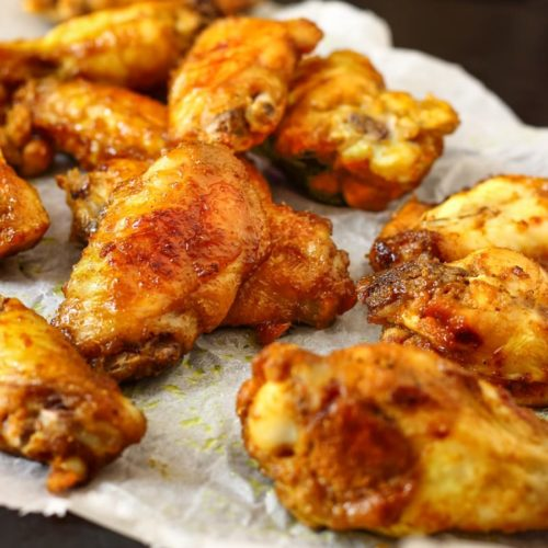 curry spiced baked chicken wings