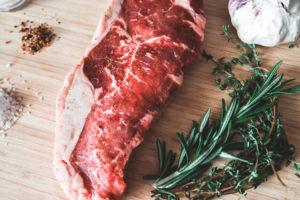 Wood dinner grain steak