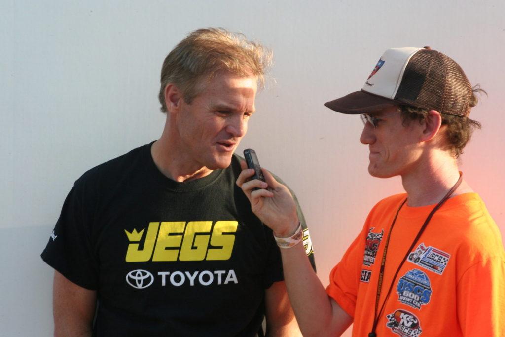 Former NASCAR driver Kenny Wallace