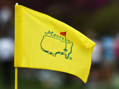 The Masters golf flag