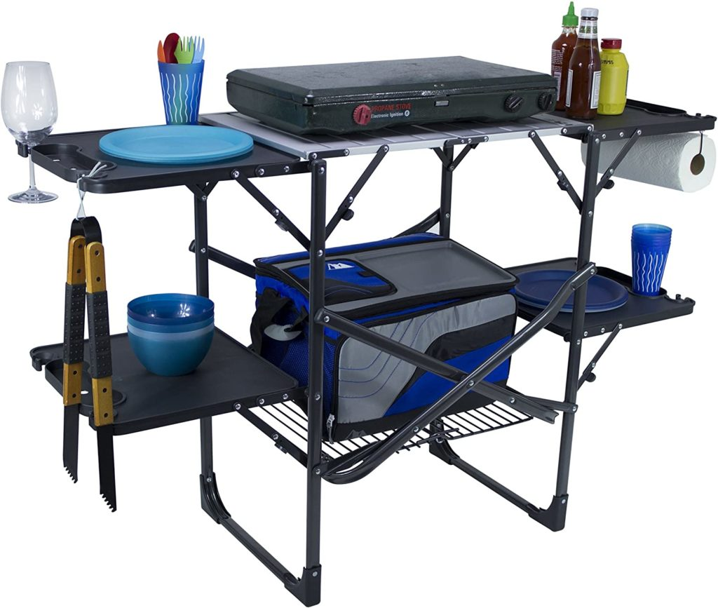 A Portable Grill And Other Tailgating Equipment