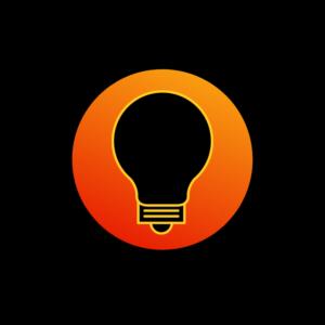 IT Tips Badge gradient- lightbulb