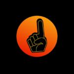 Fan finger latest post icon- gradient