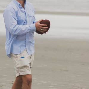 Apparel with purpose: shorts pocket doubles as koozie