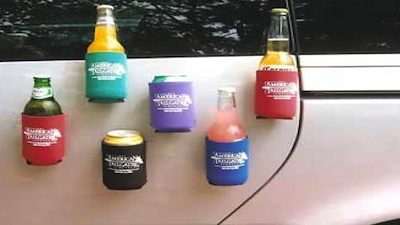 best tailgating equipment - magnetic coozies