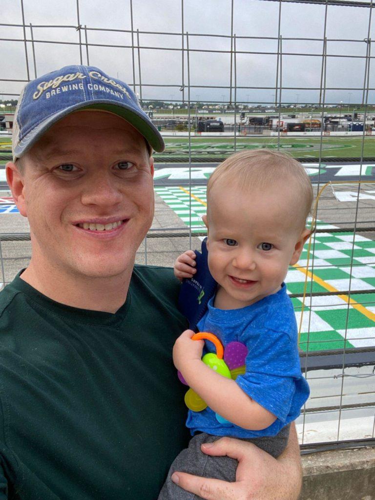 Travis Durkee & son NASCAR camping Atlanta Motor Speedway