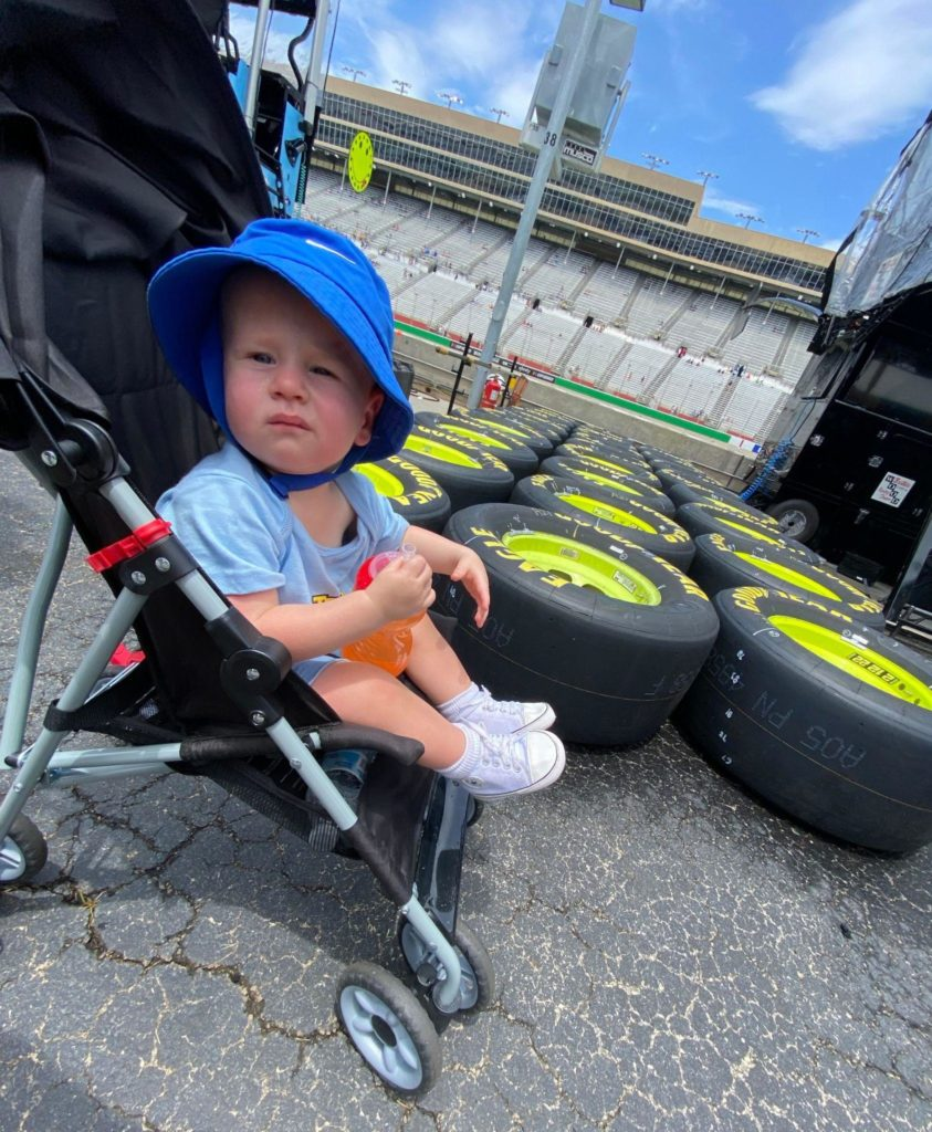 Strolling the garage at Atlanta Motor Speedway