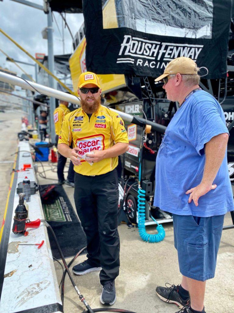 Atlanta Motor Speedway chatting on pit row