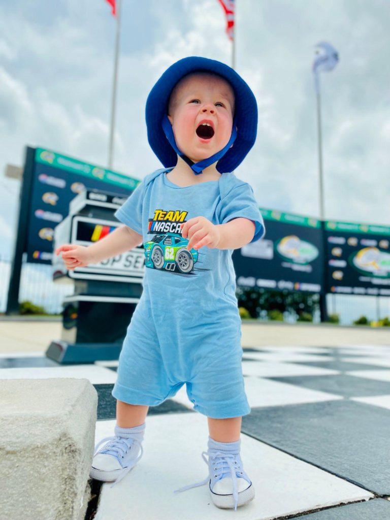 Enjoying the NASCAR experience at Atlanta Motor Speedway