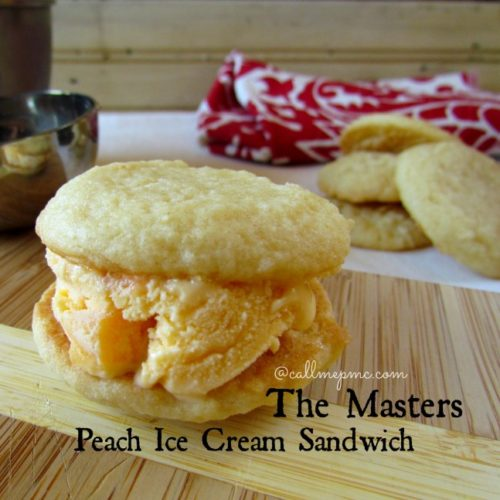 Georgia Peach Ice Cream Sandwich from The Masters